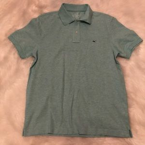 Vineyard Vines Classic Fit Polo in Capri Blue